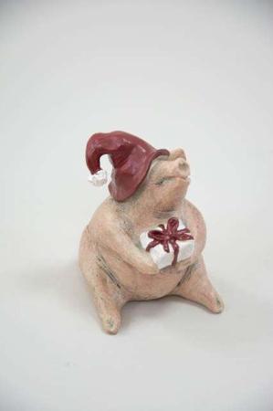 Julegris med nissehue fra Nääsgränsgården