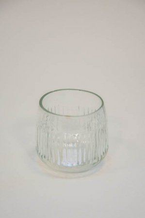 Lille fyrfadsstage i klart glas