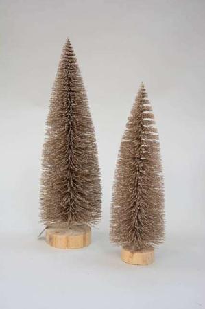 Lille kunstigt deko juletræ - guld