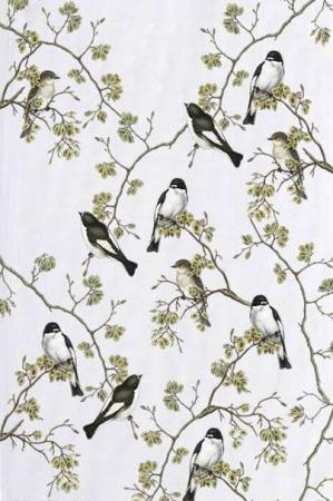 Økologisk viskestykke med fugle - flycatcher