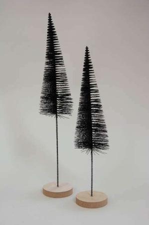Sorte deko juletræer på pind