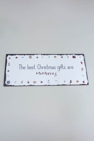 The best christmas gifts are memories. juleskilt