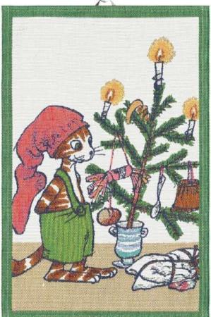 Viskestykke af økologisk bomuld fra Ekelund - JULFEST. Pedersen & Findus juletræ