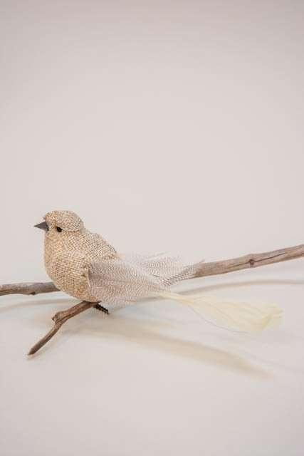 Fugl på clips fra Lene Bjerre - sandfarvet