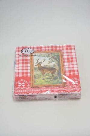 frokostserviet julemotiv hjort