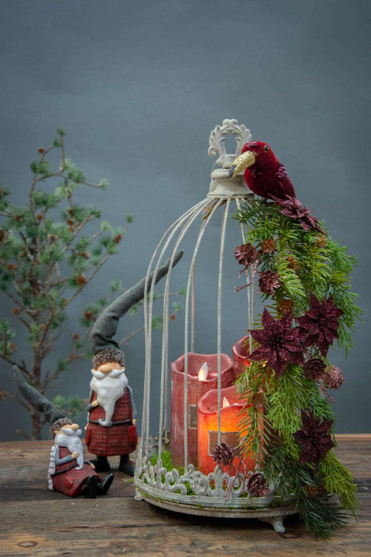 Juledekoration 2020 i fuglebur