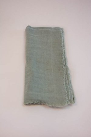 Støvgrøn stofserviet