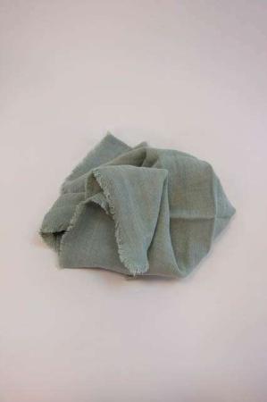 Støvgrøn stofserviet af bomuld