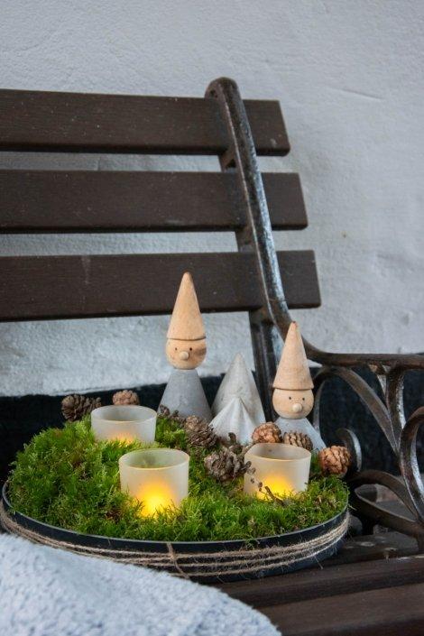 Udendørs juledekoration med lys