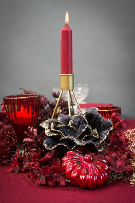 Juleborddækning 2020 - rød og guld