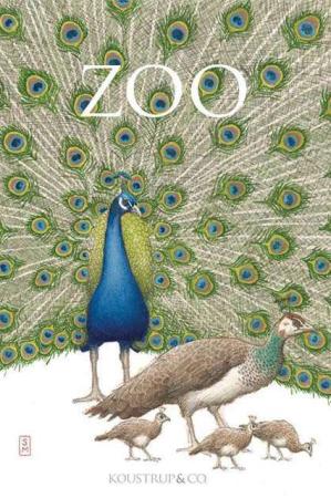 8 kort med konvolut med motiv af zoo dyr