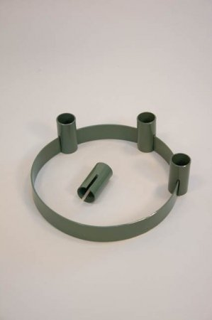 Adventsstage grøn - flytbare lysholdere - Ib Laursen