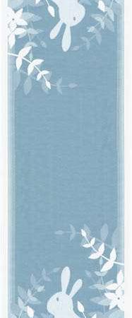 Blå påske bordløber fra Ekelund med motiv af påskehare -Siluett