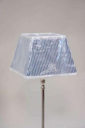 Blå stribet lampeskærm fra Lene Bjerre