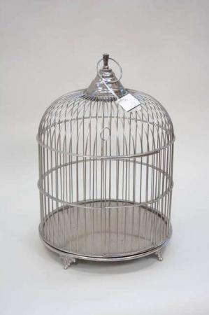 Deko fuglebur fra Lene Bjerre - sølv