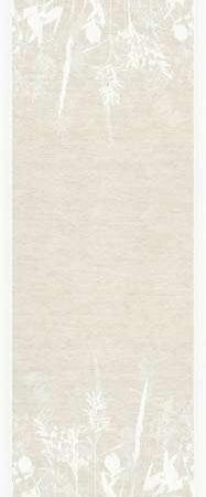 Ekelund bordløber - sandfarvet med hvidt mønster