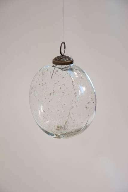 Flad glaskugle i klar glas fra IB laursen