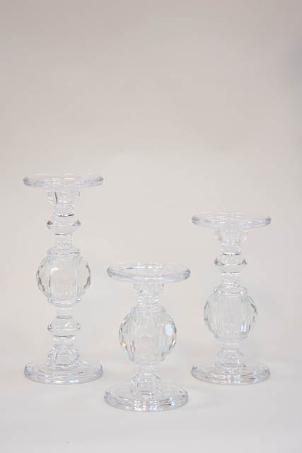 Glas lysestager til bloklys