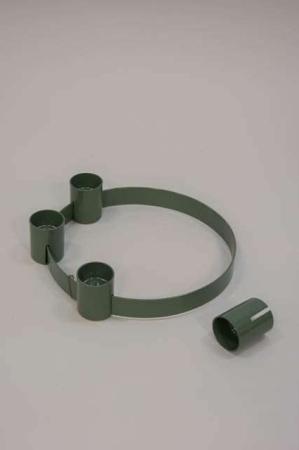 Grøn adventsstage med flytbare lysholdere