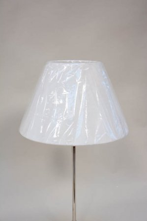 Klassisk rund lampeskærm fra Lene Bjerre - hvid