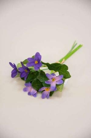 Kunstig buket af lilla anemoner