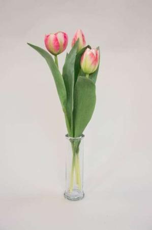 Kunstige tulipaner - lyserød