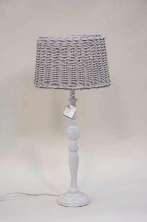 Lene Bjerre bordlampe med flet lampeskærm