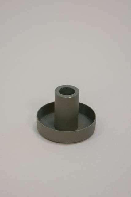 Lille metal lysestage til kertelys - grøn