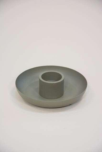 Metal lysestage til lys ø 3,8 cm - grøn