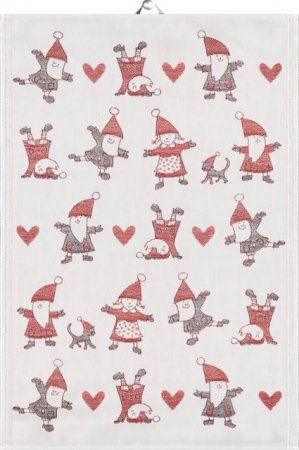 Økologisk julehåndklæde med nisser - Ekelund