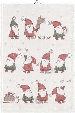 Økologisk julehåndklæde med nisser fra Ekelund