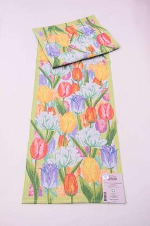 Påske bordløber fra Ekelund med motiv af tulipaner