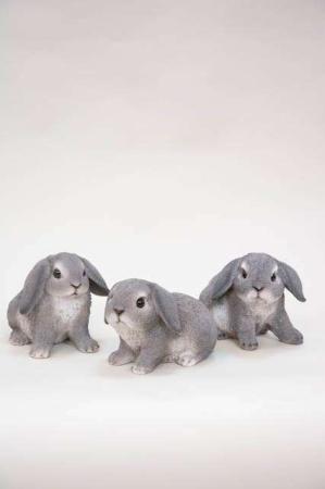 Søde små påskehare figurer - grå