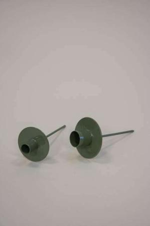 lysspyd til juledekoration - grøn metal