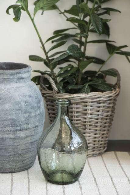 Grøn glasballon vase
