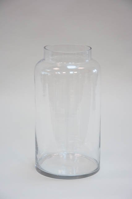 Højt hurricane glas - klar glas