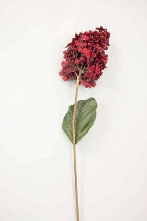 Kunstig blomst - rød med glimmer