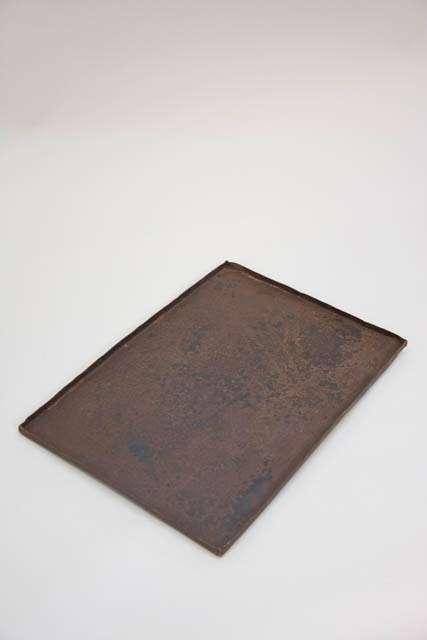 Rustik jern bakke med rust