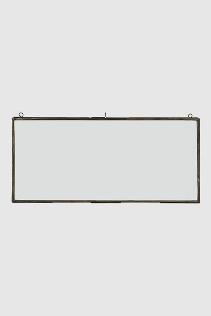 Transparent billedramme med tynd metal kant - aflang