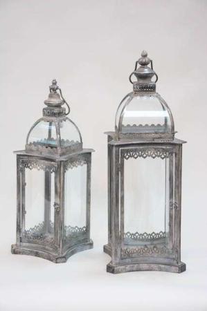 Udendørs lanterne med buet glas