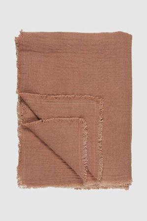 dobbeltvævet plaid - rosa dug