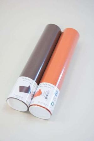 Billig papir bordløber - brun og orange