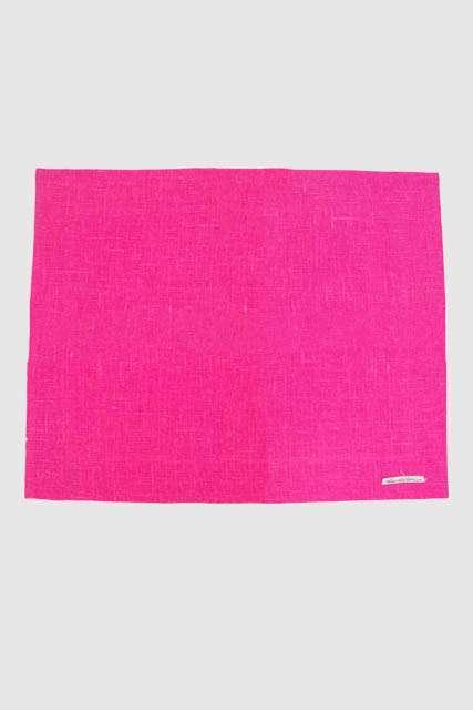 Hør dækkeservietter - pink