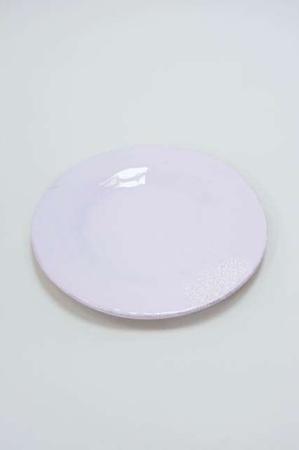 Lys lilla middagstallerken med mønste