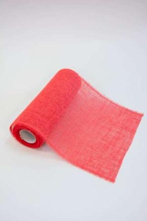 Rød bordløber - billig bordløber på metermål