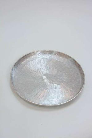 Rustik sølvfad til dekoration - pyntebakke