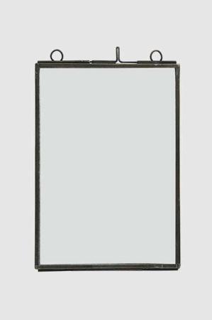 Transparent billedramme med tynd metal kant 12x17cm