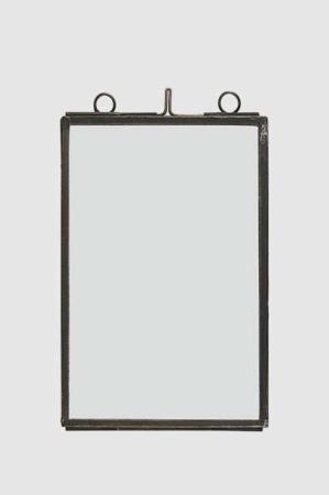Transparent billedramme med tynd metal kant 9,5x14,4 cm