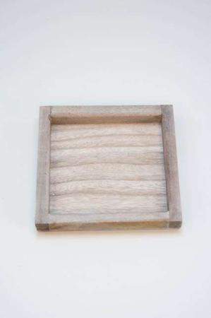 Træbakke firkantet - Træbakke dekorationer