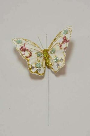 Lille sommerfugl på pind - Sommerfugl med grønne perler